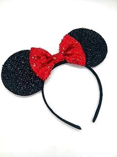 Red Mickey Ears, Rainbow Minnie Mouse Ears, Sparkly Minnie Ears, Mouse Ears,