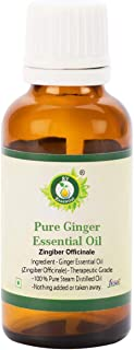 Ginger Essential Oil | Zingiber Officinale | Pure Ginger Oil | For Face | For Hair Growth | For Massage | 100% Pure Natura...