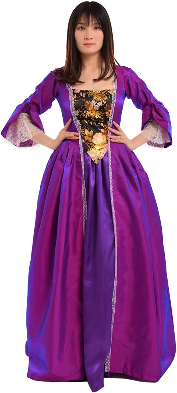 BLESSUME Medieval Victorian Dress Set Purple