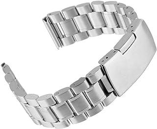 Beauty7 Bracelet Montre Acier 304 Remplacement avec Bracelet Lien Pin Remover Kit de Reparation d'Outils Bracelet a Boucle...