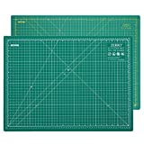 ZERRO Professional Self-Healing Cutting Mat Double Sided Thick 5-Ply with Imperial/Metric 18' x 24' (A2)
