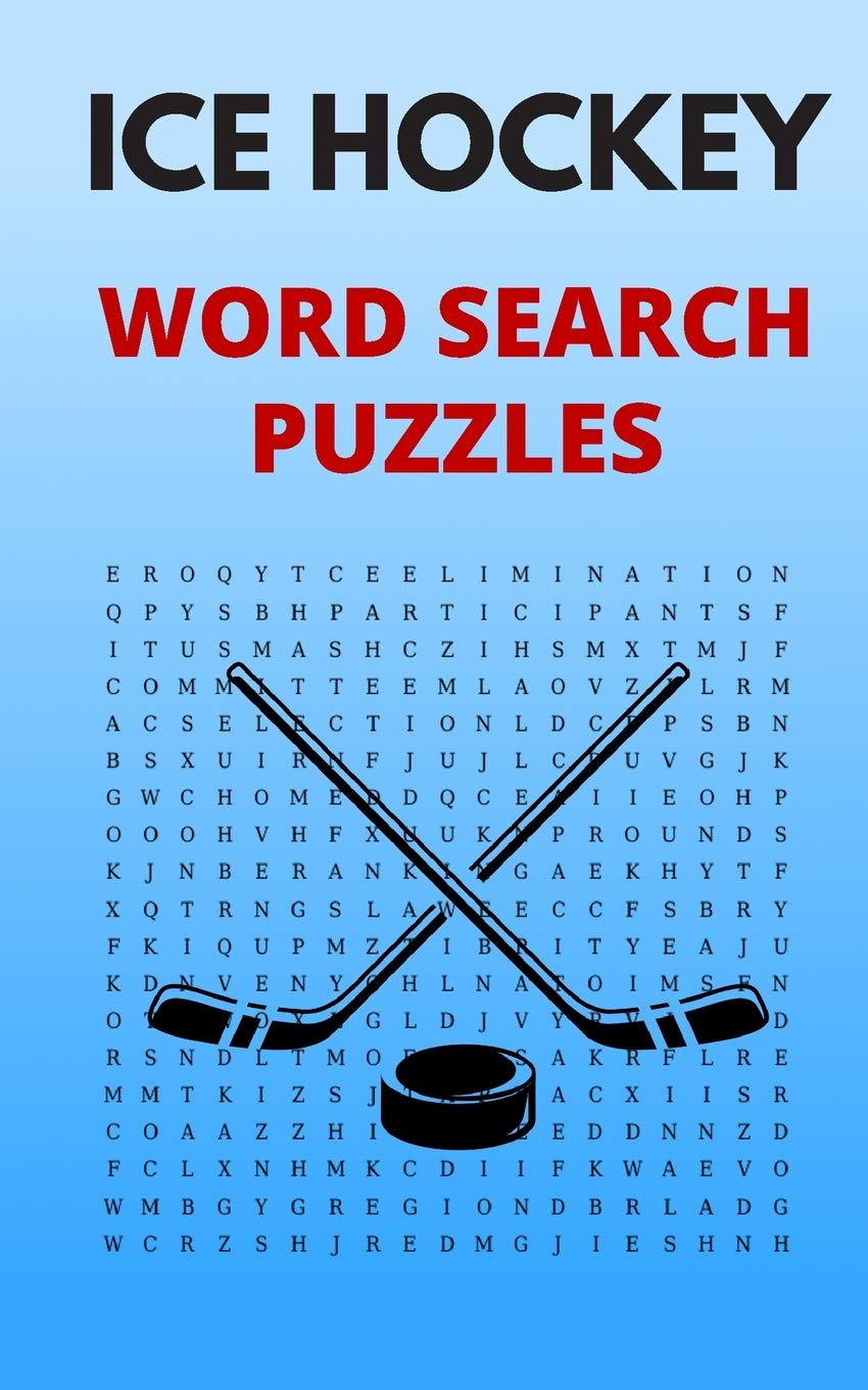 Image OfIce Hockey Word Search Puzzles: 5x8 Puzzle Book For Adults And Teens With Solutions