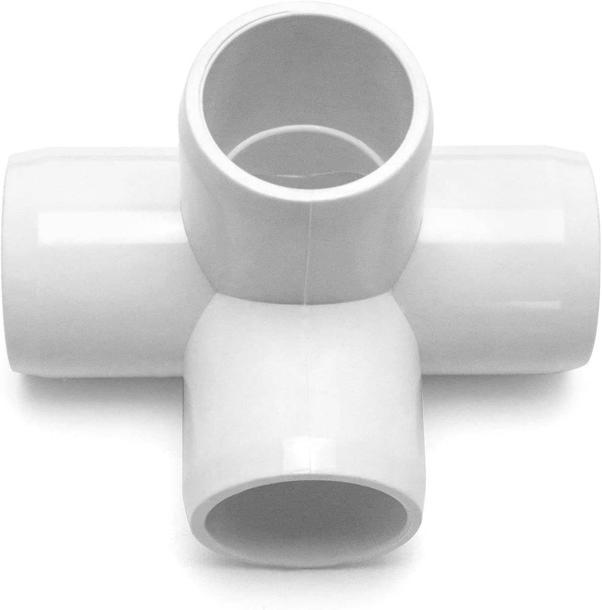 10Pack PVC Fitting Connector,Furniture Grade,for Building Furniture and PVC Structures,White QWORK 3 Way 3//4 Tee PVC Fitting Elbow