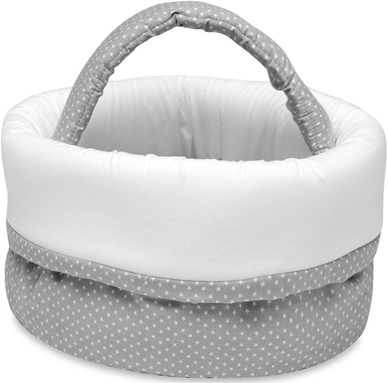 Pirulos 51013120 Basket - Wine Rack, Moon Design, White and Grey