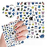 Cute Kawaii Cartoon Nail Stickers for Women, Girls, Gift (75+ Decals) (Style 2)