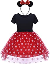 MYRISAM Baby Girls Polka Dots Cartoon Mouse Birthday Christmas Party Tutu Dress w/Headband Halloween Carnival Outfits