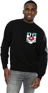 Looney Tunes Men's Sylvester Face Faux Pocket Sweatshirt