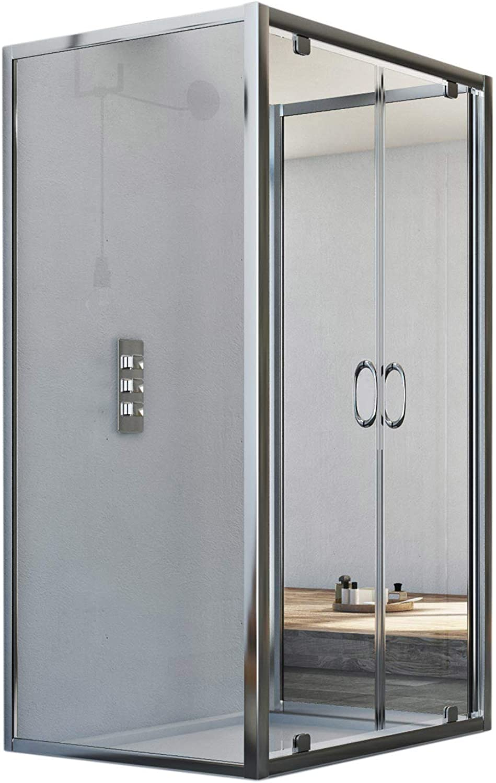 Sintesi Trio 2 Türen 3-seitige Duschkabine 70x80x70 CM H185 Klarglas