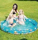 Babypool Planschbecken Badespaß für Babys Schwimmbad für Kleinkinder Pool Planschbecken Kinderpool Babypool zum spielen Baby Pool Schwimmingpool Kinderplanschbecken Kinderspielpool Babypool mit Fischen Wal ca. 150 x 25