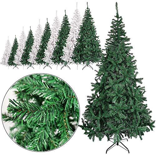 Rapid Teck® Weihnachtsbaum Künstlich 120cm (240 Äste) | Grün | Tannenbaum mit Schnellaufbau Klappsystem Material PVC inkl. Metallständer | Nordmanntanne