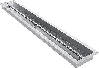 VEVOR Brasero Intérieur Extérieur Inox Bac à Feu en Acier Inoxydable Encastrer dans Table Basse Fonctionnement au Gaz Prop...