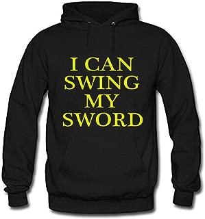 Zhenshan Men's Black Long Sleeve Hoodie I CAN SWING MY SWORD