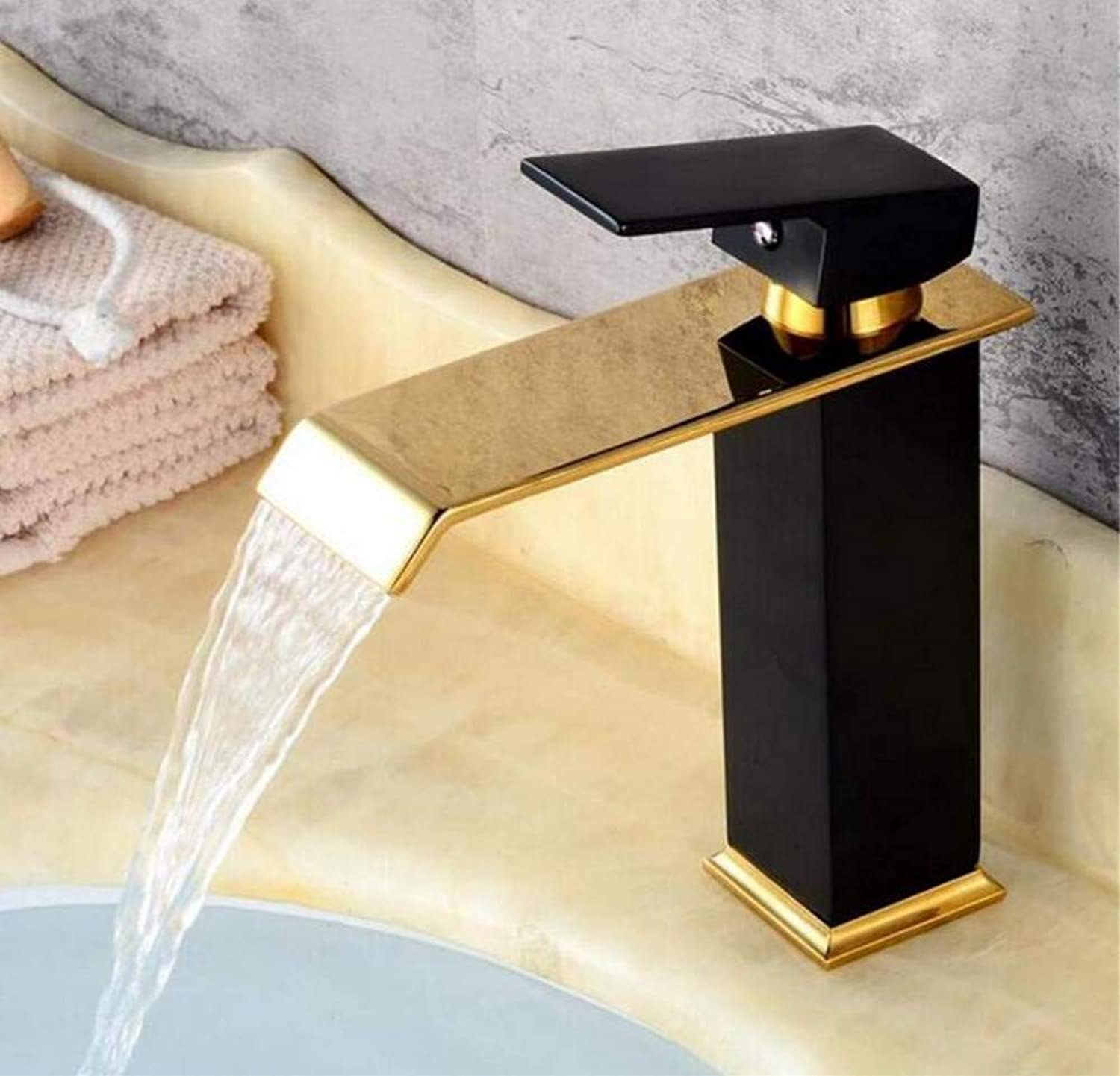 Brass Wall Faucet Chrome Brass Faucetfaucet Bathroom Faucet Bathroom Basin Mixer Tap with Hot and Cold Water Crane