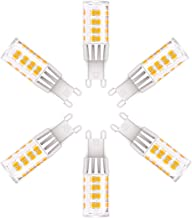 G9 LED Light Bulbs, 5W (40W Halogen Equivalent), 400LM, 120V,Daylight White (6000K), G9 Base Non-Dimmable for Home Lighting, 6-Pack (Not Dimmable-6000)