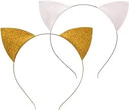 Floral Fall 2 Park Shiny Halloween Cat Ear Headband Festival Girls Cat Costume Hairband F-97