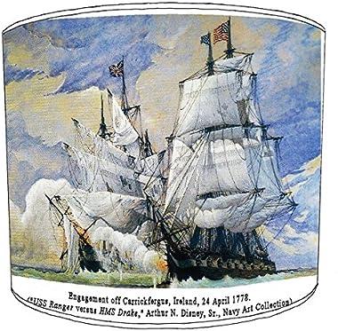 20,3cm Table vintage ships abat-jour 14