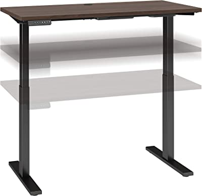 Bush Business Furniture Move 60 Series Height Adjustable Standing Desk, 48W x 24D, Black Walnut with Black Base