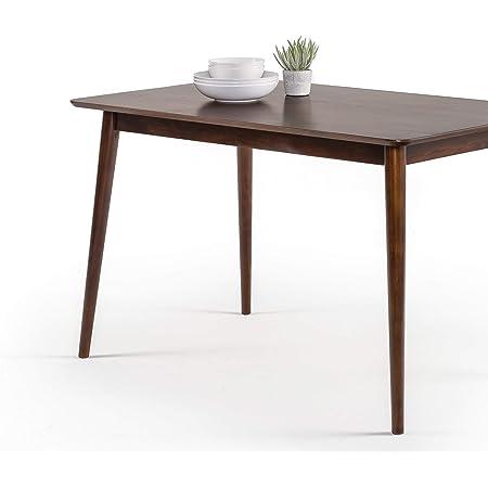 Table à manger en bois 120 cm ZINUS Jen   Table de cuisine en bois massif   Facile à monter, espresso