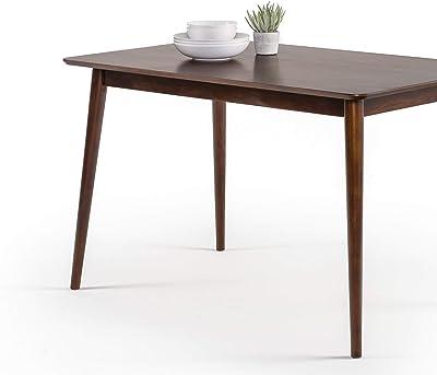 Table à manger en bois 120 cm ZINUS Jen | Table de cuisine en bois massif | Facile à monter, espresso