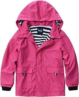 M2C Boys & Girls Hooded Waterproof Rain Jacket Cotton Lined Windbreaker
