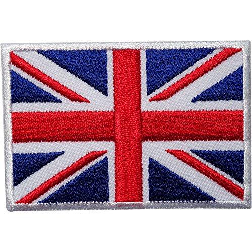 Écusson brodé à coudre ou à thermocoller - Motif drapeau du Royaume-Uni