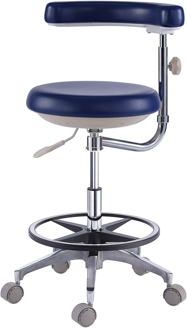 Shipping included Dental Dentist's Mobile Chair Nurse's Le Max 72% OFF PU with Backrest Stools