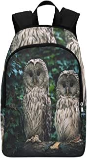 Ural Owl Strix Uralensis Sitting On Casual Daypack Travel Bag College School Backpack for Mens and Women