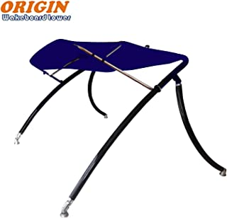 Origin Advancer Black Wakeboard Tower Plus Foldable Bimini-Navy Blue Canopy