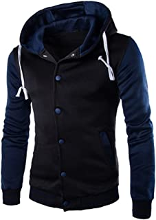 Men Coat Jacket Outwear Sweater Winter Slim Tops Hoodie Warm Hooded Sweatshirt