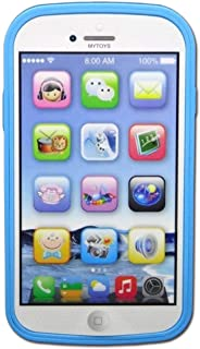 YOYOSTORE Toddler Mobile Phone Toy Play Game Learning English Music Cell Phone Toy (Blue)
