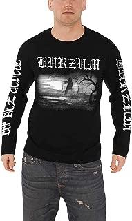 Burzum T Shirt Aske 2013 Band Logo Official Mens Black Long Sleeve