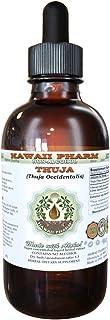 Thuja Alcohol-FREE Liquid Extract, Thuja (Thuja Occidentalis) Dried Leaf Glycerite Herbal Supplement 2 oz