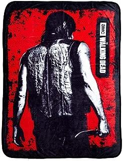 AMC The Walking Dead Daryl Red Coral Fleece Throw Blanket 45x60