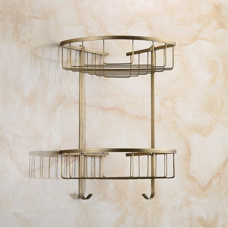 Cpp Shelf Bathroom Shelf All Copper European Retro Double Shelves Corner Rack