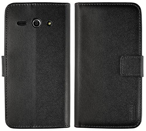 mumbi Tasche Bookstyle Case kompatibel mit Huawei Ascend Y530 Hülle Handytasche Case Wallet, schwarz - 5