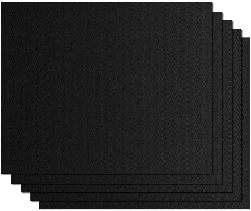 JYWJDH 10pcs 40 * 33cm antiadhésif BBQ Grill Mat Cuisson Mat Faire Cuire Résistance à la Chaleur Feuille Griller Facile à Nettoyer réutilisable Outil de Cuisine (Color : 3PCS) 2pcs