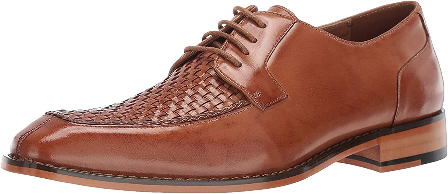STACY 送料無料お手入れ要らず 至高 ADAMS Men's Winthrop Lace-up Dress Moc-Toe Oxford