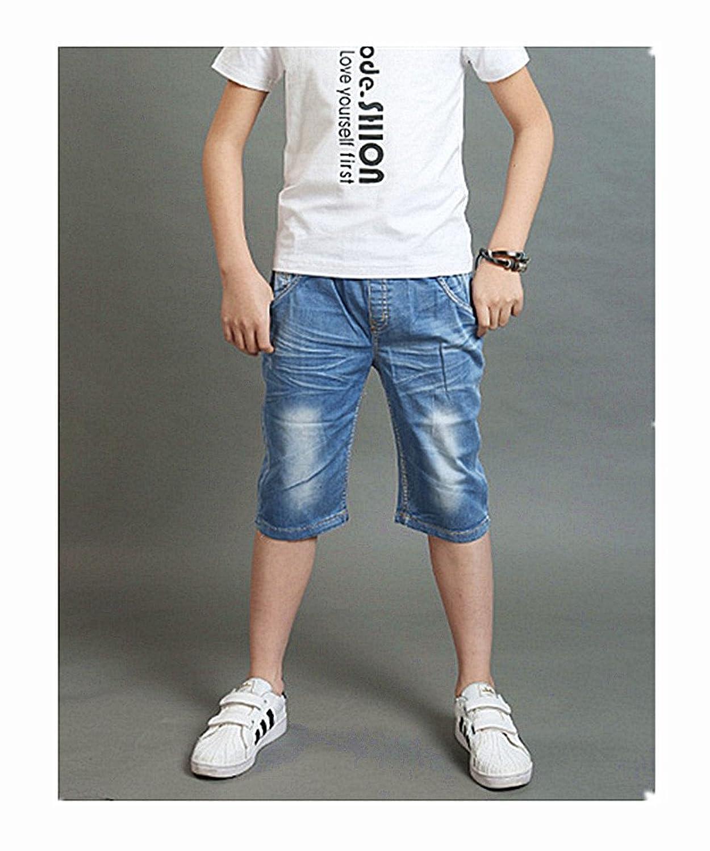 デニムパンツ ボーイズ ハーフパンツ ウェストゴム夏 ショートパンツ キッズ 男の子 五分丈 半ズボン 子供用 デニム 短パン 半パン
