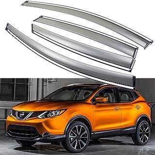 SPEEDLONG 4Pcs Car Window Visor Vent Shade Deflector Sun/Rain Guard for Nissan Rogue Sport 2017-2019