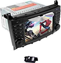 hizpo Android 9.0 Car DVD Car Audio Stereo for Mercedes Benz C-Class W203 2004-2007 CLC W203 2008-2010 CLK Class W209 2005-2011 Support GPS Navi, BT, RDS Radio, SWC, 4G WiFi +Rear View Camera