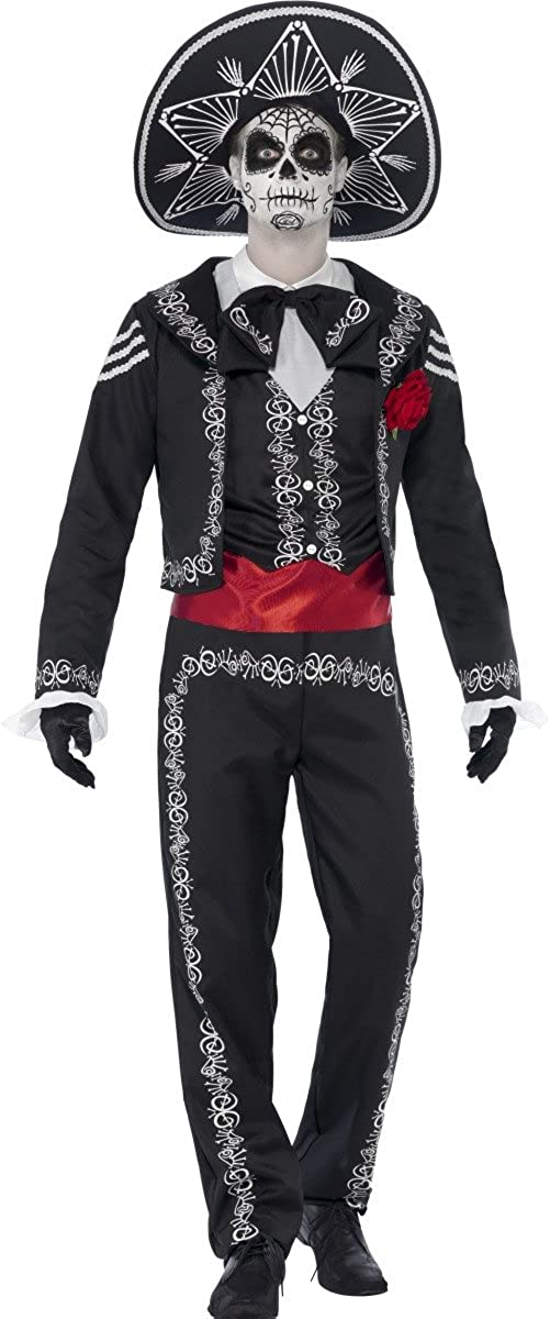 Raleigh Mall Smiffys Day of the Dead Costume Se±or Bones Shipping included