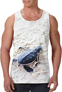 FANTASY SPACE Men's Crew Neck Sleeveless Undershirt Beachwear for Workout Running, Tank Tops