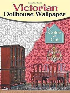 Victorian Dollhouse Wallpaper: Color & Cut