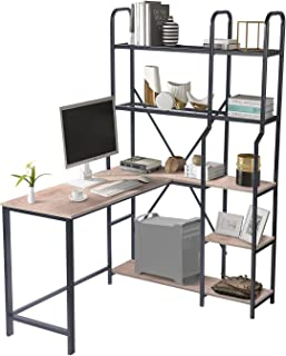 COZUHAUSE 49 Inch Office Desk with Five-Tier Storage...
