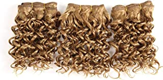 Kinky Curly Hair Synthetic Hair Weave Short Curly Hair Extensions Afro African Braids Jamaican Bounce Crochet Hair 6Inch #27 6inches