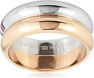 TOMMY HILFIGER WOMEN'S TWO TONE STAINLESS STEEL RINGS -2701097E