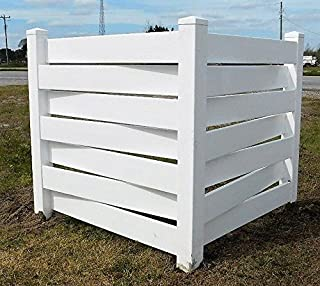 White Basketweave PVC Fence Corner - Privacy - Driveway/Garden Accent - Garbage Can/AC Unit Enclosure