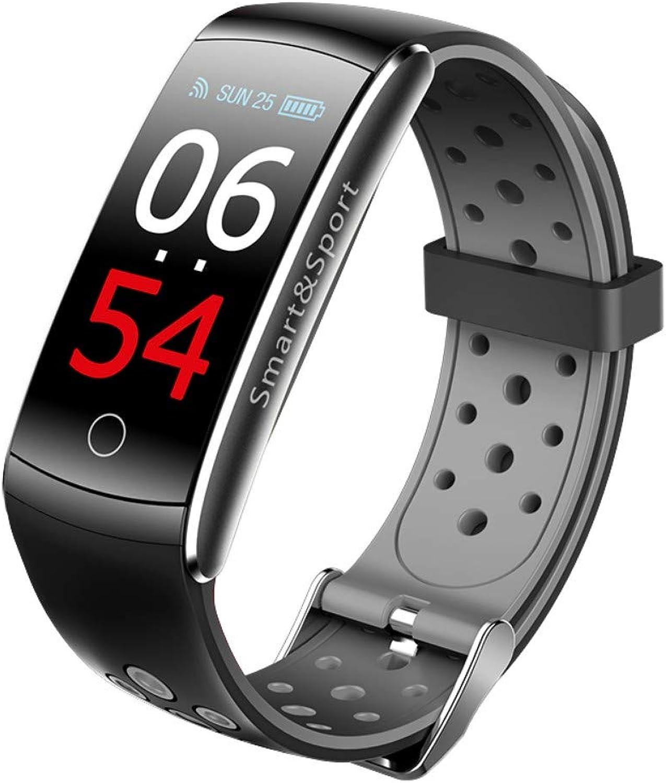 NICREB Smart Watch Pulsmesser Ip68 Wasserdichte Fitness Tracker Blautdruck GPS Blautooth Für Android Ios Frauen Mnner Schwarz