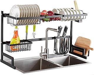 NZKW Support à ustensiles, égouttoirs à Vaisselle à Un Niveau, Fournitures de Cuisine, égouttoir à égouttoir avec Baguette...