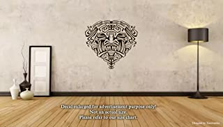 Mexica Aztec Maya Wall Decals Aztec Tiger Mask Stickers Decorative Design Ideas For Your Home or Office Walls Removable Vinyl Murals EC-0743
